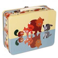 Große Lunchbox Waldtiere aus Blech von Blafre