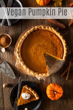 Bring this Vegan Pumpkin Pie to your fall and holiday gatherings and surprise everyone with just how satisfying dairy-free can be! Pumpkin Pie Cheesecake, Vegan Pumpkin Pie, Homemade Pumpkin Pie, Pumpkin Pie Recipes, Pumpkin Dessert, Pumpkin Spice, Dairy Free Thanksgiving Recipes, Fall Recipes, Whole Food Recipes
