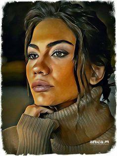 Demet özdemir Pencil Drawings, Art Drawings, Woman Sketch, Turkish Actors, Drawing Tips, Creative Photography, Art Sketches, All Star, Daydream