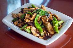 Gai Lan and Shiitake Mushroom Stir-fry with Chicken