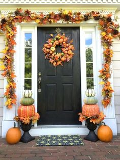 Where to find each item to copy this Fall front porch decorating idea at home.