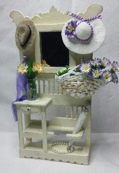 Mueble recibidor miniatura 1:12
