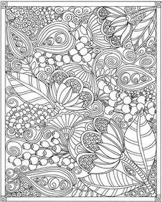 ESCAPES Joyful Gardens Coloring Book @ Dover Publications                                                                                                                                                                                 More