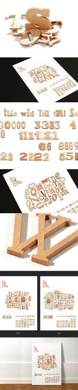 Wooden Type Calendar / Levap Vonayl