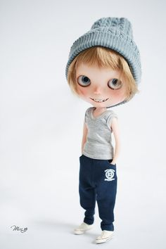Yo se pierda pantalones de chándal para Blythe Doll - traje de muñeca - Azul Profundo