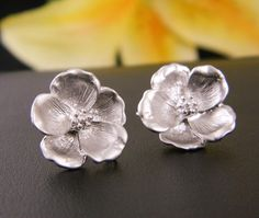 Magnolia Earrings, Mother's Day Gift, Stud Earrings, Bridesmaid Gift, Everyday Earrings, Flower Earrings, Mothers Jewelry, Sterling Silver. $20.00, via Etsy.