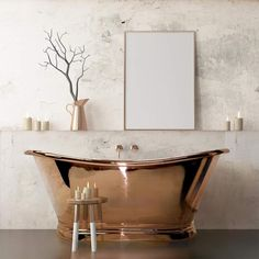 Copper Bath on display in Kitchen, Tile & Bathroom Gallery showroom