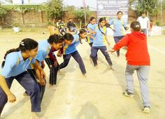 Kabaddi Players In Action During Annual Sports Meet At National