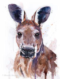 Donkey,Sale,Original Wildlife,Animal,Art Card Gift Print Watercolour wall