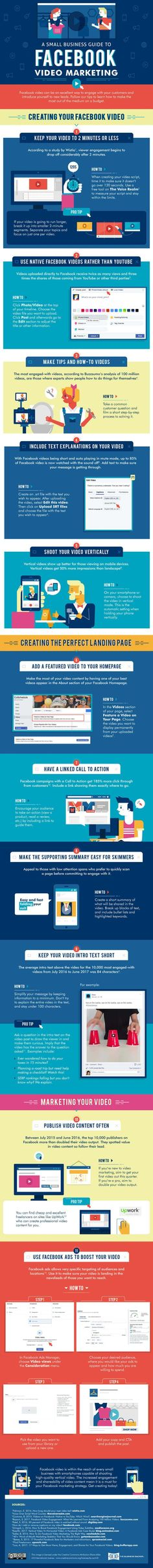 Top Tips to Create Facebook Videos to Market Your Business #Infographic