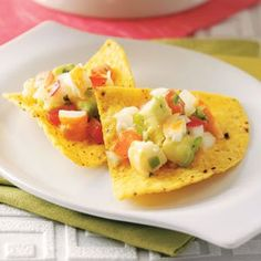"""Shrimp Salsa Recipe -""""Every time I take this salsa to a party, it's the first thing to go,"""" details Monique Jacketta of West Bountiful, Utah. She was skeptical when her mother gave her the recipe, but says one taste won her heart!"""