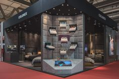Salone del Mobile Milano 2017 Colunex stand with miniature beds display.
