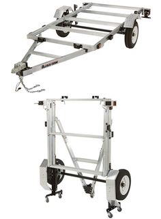 Ultra-Tow x Folding Aluminum Utility Trailer Kit — Load Capacity Jon Boat Trailer, Kayak Trailer, Trailer Plans, Trailer Build, Car Trailer, Trailer Hitch, Trailer Storage, Motorcycle Trailer, Motorcycle Camping
