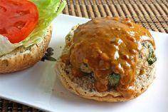 Thai Spicy Peanut Sauce Turkey Burger