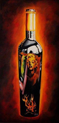 Original painting http://www.rockstargallery.net/stacey-wells #marilynmonroe
