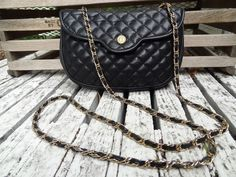 Black Soft Quilted Leather Purse $25