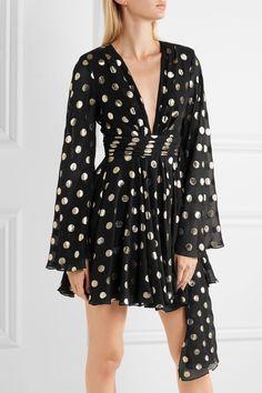 Saint Laurent polka dot wrap Dress