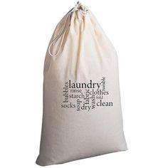 Laundry Bag Laundry Jumble by badbatdesigns on Etsy, $25.00