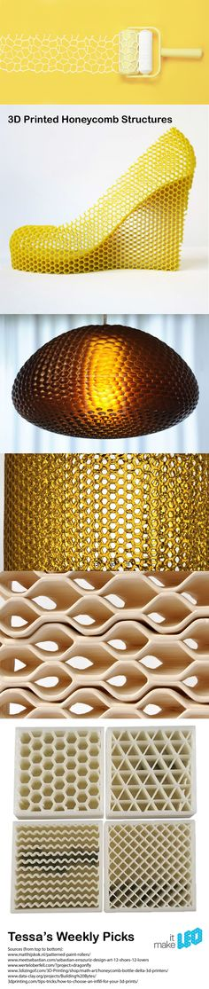 Tessa's Weekly Picks – 3D Printed Honeycomb Structures.