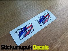 From 2.40 2 X Usa Nicky Hayden Stickers Superbike Motogp Moto Gp 69 Helmet /screen Small Size 60mm - Colour Printed Vinyl Car Sticker / Decal Free Pp