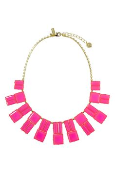 kate spade new york accessories Pink Hot Chip Statement Necklace - Make a hot pink statement when you add this kate spade necklace to your formal outfit!