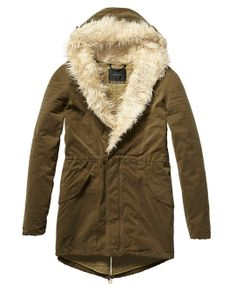 Technical Parka With Quilted Lining - Scotch & Soda Ohhh I want this