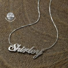 Name necklace 'Shirley' style personalized by KHandmadeCreations, $28.00