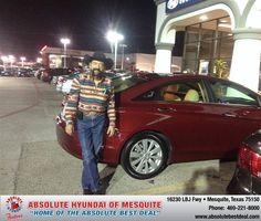 #HappyAnniversary to Steven  Loury on your 2013 #Hyundai #Sonata from Jacy Jackson at Absolute Hyundai!