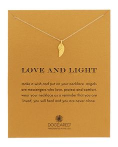 Dogeared Love And Light Angel Wing Necklace
