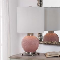 Ceramic Black Table Lamp 26 in.Empire Shade Desk Lighting Tall Style With Linen