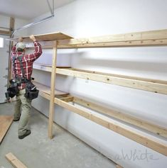 Ana white build a easy and fast diy garage or basement shelving do it yourself garage storage click the pic for many garage storage ideas solutioingenieria Images