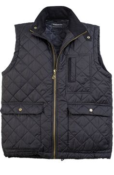 NEW! Mens Navy Quilted Gilet by Vedoneire (a classic style for a roomier fit to allow for layering) Available in Green and Navy. £59.99     #MensFashion #Menswear