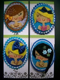 Cameo brooches - how pretty are these?