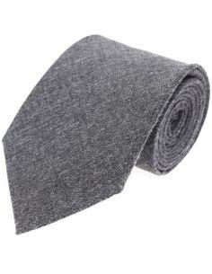 FLATSEVEN Mens Designer Classic Solid Color Neck Tie Cotton (YA006) Grey ** Read review @