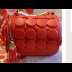 Nwot Amazing Red Leather Bag