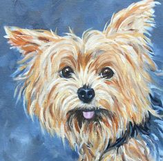 Custom Fine Art Pet Portrait of your dog by me, Painter Robin Zebley. I try to capture not only the outside appearance, but their personality and soul as well, in my signature, cheerful style. I use top quality oil paints on stretched canvas. This guy from my portfolio is a Wire-haired Pointing Griffon.  I dont require a perfect photo, I usually work from an array of your photos. How to order: Choose a size, then send me your photo(s) via an Etsy email. Well discuss the photos and what YOU…