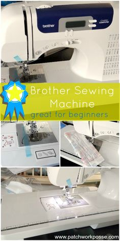 My New Brother Sewing Machine | PatchworkPosse #sewingmachine #quilt I love this new machine! So many features and easy to use.