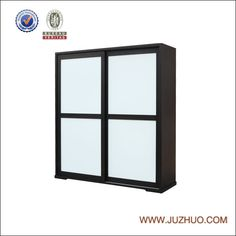 1.Material:solid wood  2.white back-painted glass sliding doors  3.Can choose two or Multiple combination