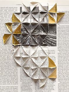 Abigail Reynolds, 'The Universal Now: British Museum Reading Room Cut and tiled vintage book plates + gold leaf. Photography Sketchbook, Art Sketchbook, Mixed Media Photography, Artistic Photography, Graphic Design Magazine, Libros Pop-up, Origami, Photocollage, Design Graphique