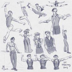 Fresh Figure Drawings 24 February Newsies by kuabci on DeviantArt Broadway Theatre, Musical Theatre, Take A Smile, Jack Kelly, Theatre Nerds, Dear Evan Hansen, Sketches, Fandoms, Fan Art