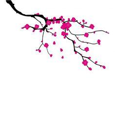 motif cerisier japonais