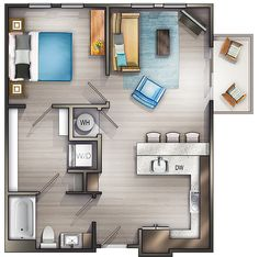 Studio Apartments Nashville | Peyton Stakes Luxury Apartments: A3 1 Bed | 1 Bath 696 Sq. Ft. Starting At $1489