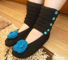 nice Çizme Şeklinde Örgü Çorap Modelleri