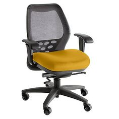 Mid-Back Mesh Ergonomic Task Chair, NGL-6100, Adjustable, Durable, Comfortable, Home Office, Yellow.