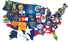 America's state's flags