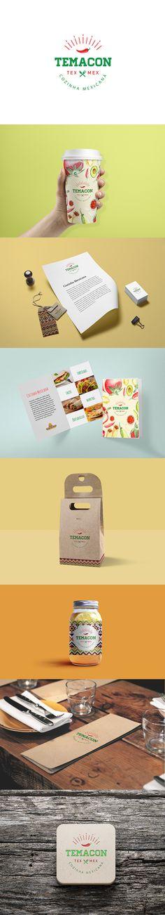 Logo + Identidade Visual para a empresa Temacon TexMex - Cozinha Mexicana. Rodrigo Villa