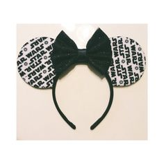 Star Wars Ears with your choice of bow by ShopHouseOfMouse on Etsy