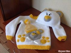 Examples of Knitting Ornament Art, # babycartisings - Crochet Clothing and Accessories Baby Boy Knitting Patterns, Knitting For Kids, Baby Patterns, Crochet Patterns, Baby Pullover, Baby Cardigan, Diy Crafts Knitting, Pull Bebe, Crochet Baby Clothes