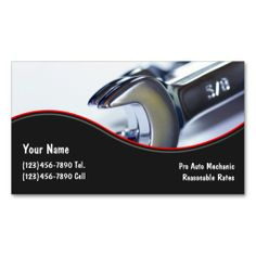 Automotive Business Cards. Make your own business card with this great design. All you need is to add your info to this template. Click the image to try it out!