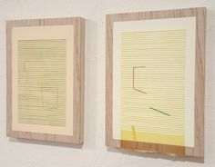 Nathan Suniula, 'Turquoise green yellow' and 'Yellow blue hue', acrylic on ply wood panel, 2016